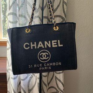 Authentic Chanel Denim Tote